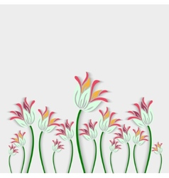 Bouquet of fantastic white flowers made in 3d vector image