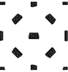 cat toilet pattern seamless black vector image