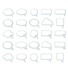 Empty speech bubbles icons vector image vector image