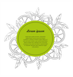 Hand drawn design template with citrus fruit vector