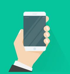 hand holding smartphone or mobile phone vector image vector image