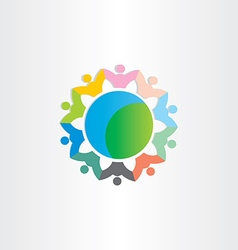 people around the world symbol vector image