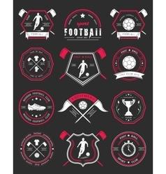 Set of Football Badge and Logo vector image
