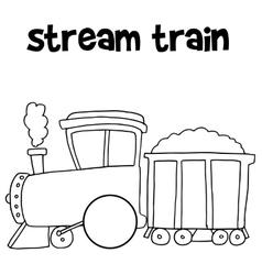 Stream train of art vector