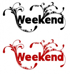 weekend vector image