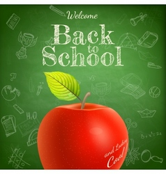 Welcome back to school template EPS 10 vector image vector image