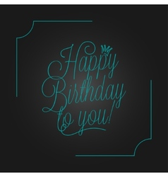 birthday vintage lettering design background vector image vector image