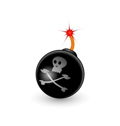 cartoon bomb vector image vector image
