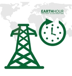 earth hour vector image