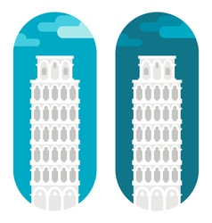 Flat design Pisa tower vector image