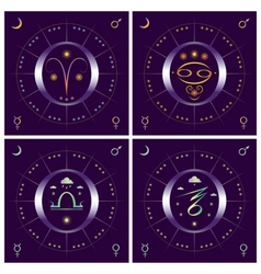 Four seasons set vector image