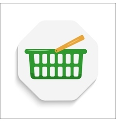Shopping Cart icon button Modern material design vector image vector image