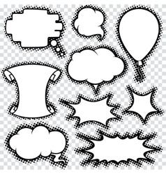 Speech Bubble Set Comics Retro Design vector image vector image