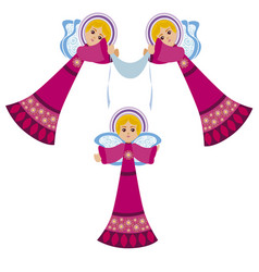 angels with flags vector image vector image