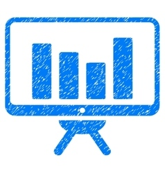 Bar Chart Monitoring Board Grainy Texture Icon vector image vector image