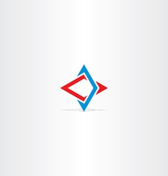 blue red abstract business technology logo vector image vector image