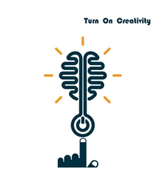 Creativity Brain Opening Concept vector image