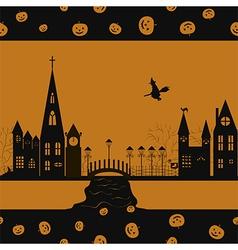 Halloween card seamless pattern vector image vector image