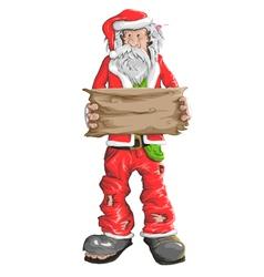 Homeless Santa Claus vector image