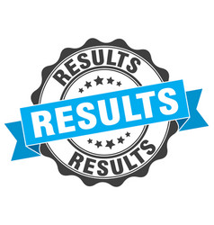 Results stamp sign seal vector