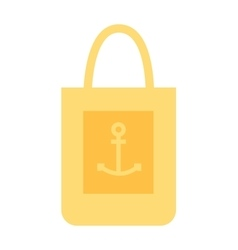 Summer bag icon isolated on white background vector image vector image