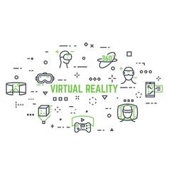 virtual reality icons vector image vector image
