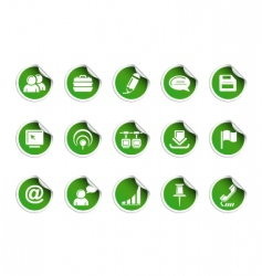 web icons sticky series vector image