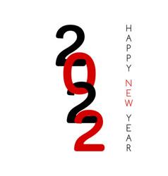 2022 happy new year greeting card minimal vector