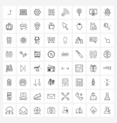 64 universal icons pixel perfect symbols wi-fi vector
