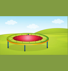 A trampoline in the playground vector