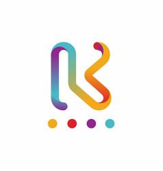 Abstract k logo design template vector