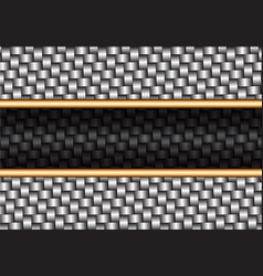 Abstract metal weave black gold line vector