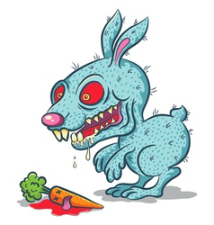 Angry rabbit vector image