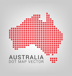 Australia map with squares vector