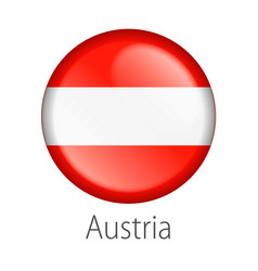 Austria round button flag vector