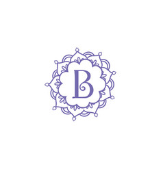 b-ornamental-logo vector image
