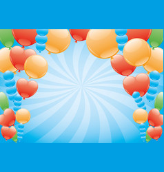 balloons on a blue background vector image