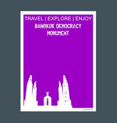 Bangkok democracy monument thailand monument vector