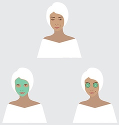 Beaty set vector image