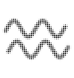 black pixel sinusoid waves icon vector image