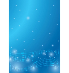 blue flyer with musical notes vector image