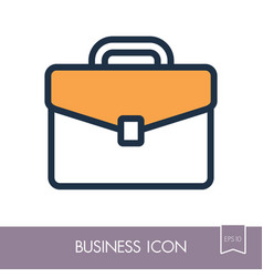 Briefcase outline icon business sign vector