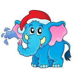 christmas animal theme image 2 vector image