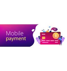 Credit card header banner vector