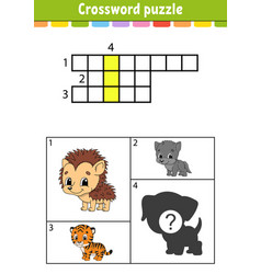 Crossword puzzle education developing worksheet vector