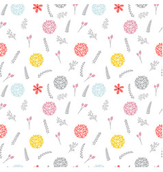 cute floral seamless pattern with flowers elegant vector image