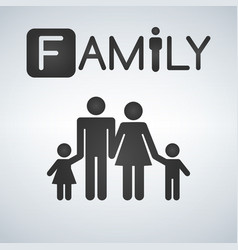 family icon isolated vector image