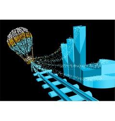 Financial balloon vector image