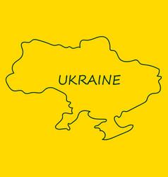 flag map of ukraine vector image