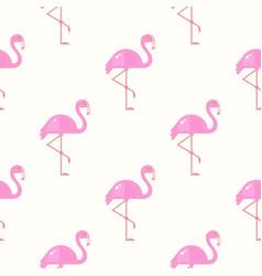 Flamingo bird background retro seamless pattern vector